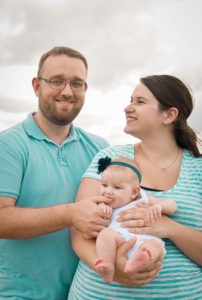 Sarah Harrington with her husband and her daughter in Port Orange, Fl.