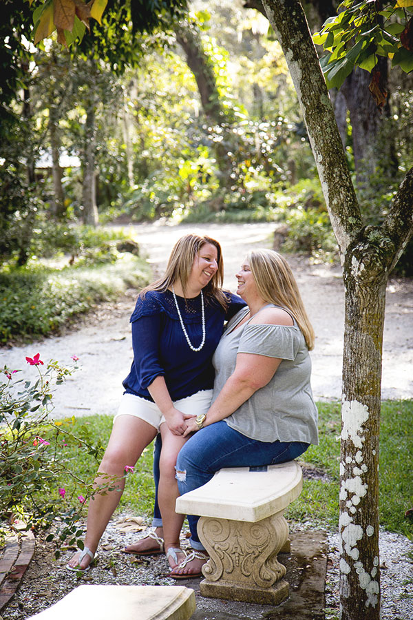 LGBT Engagement Session in Sugar Mill Gardens | Central Florida wedding photographer | Sarah Rose Photography