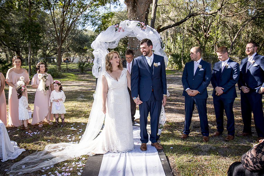 Central Florida wedding photographer | Sarah Rose Photography | just married