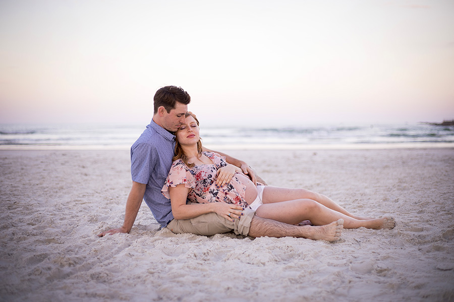 beach maternity photos | Ponce Inlet maternity pictures | Central Florida portrait photographer | Sarah Rose Photography