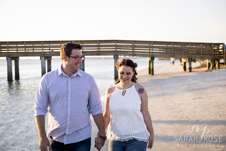 Smyrna Beach Dunes engagement pictures | Central Florida wedding photographer | Sarah Rose Photography