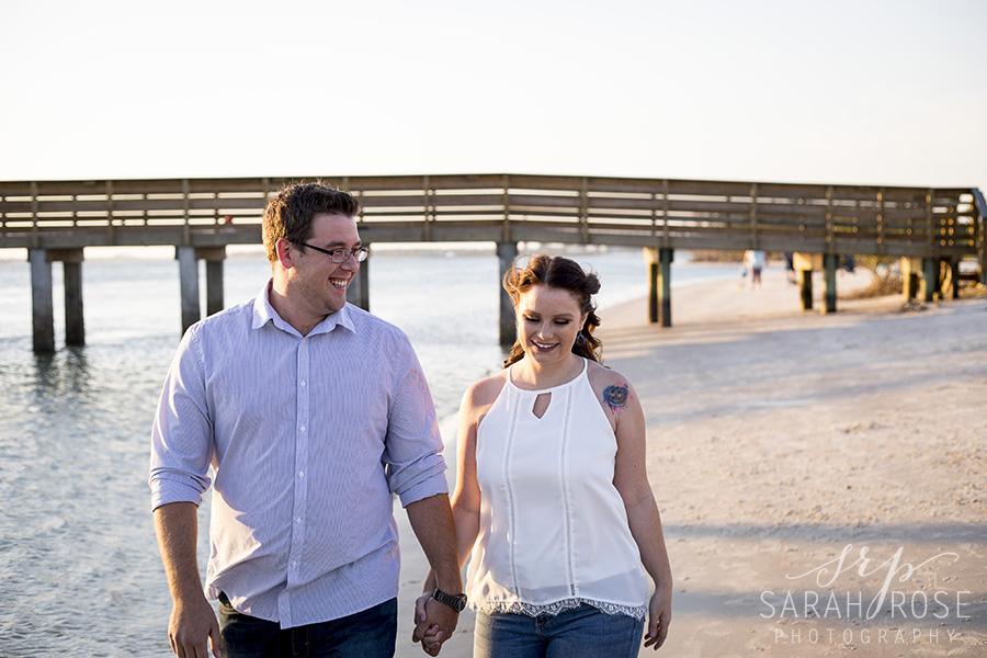 Smyrna Beach Dunes engagement pictures | Central Florida wedding photographer | Sarah Rose Photography
