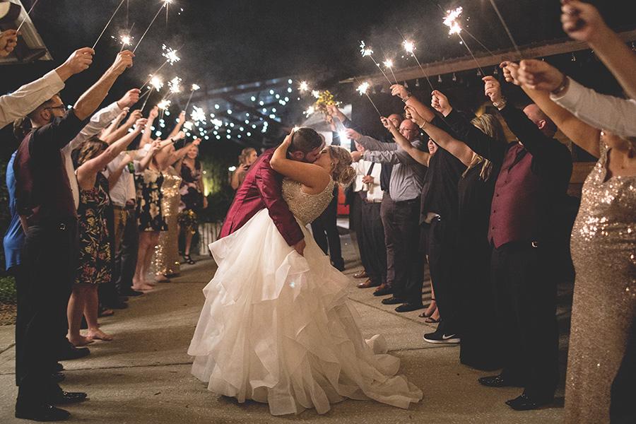 Club Lake Plantation wedding | Sparkler Exit | Central Florida wedding photographer | Sarah Rose Photography