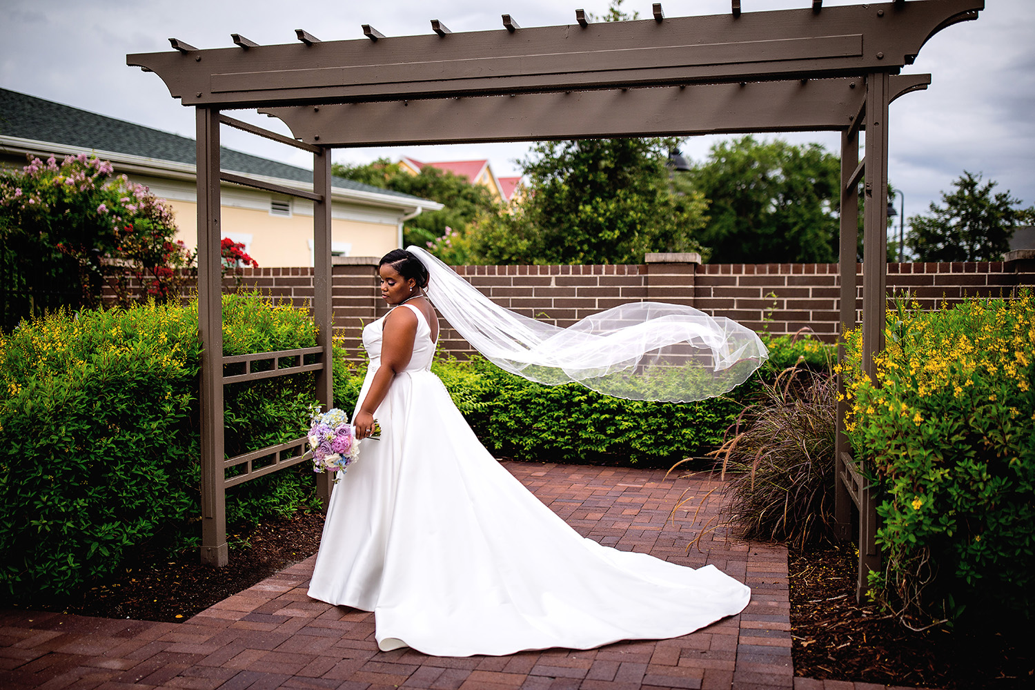 Central Florida wedding photographer, Sarah Rose Photography, Romantic wedding portrait NOAH's Events Venue